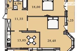Продается 2-комнатная квартира 83.79 кв. м в Виннице