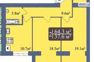 Продається 2-кімнатна квартира 64.3 кв. м у Чернігові