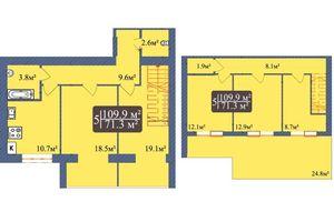 Продається 5-кімнатна квартира 109.9 кв. м у Чернігові