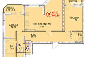 Продается 5-комнатная квартира 150.2 кв. м в Вышгороде