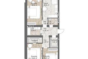 Продается 3-комнатная квартира 92.08 кв. м в Одессе
