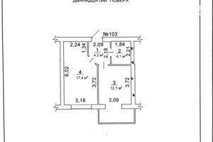 Продается 1-комнатная квартира 42 кв. м в Черкассах