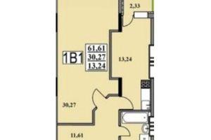 Продается 1-комнатная квартира 61.6 кв. м в Черкассах