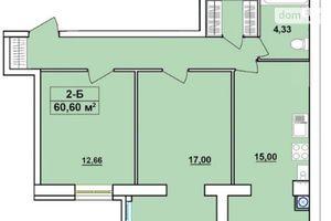 Продається 2-кімнатна квартира 60.6 кв. м у Чернігові