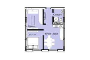 Продается 1-комнатная квартира 42.62 кв. м в Тернополе