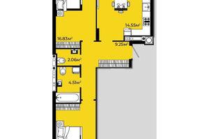 Продается 2-комнатная квартира 66.3 кв. м в Львове