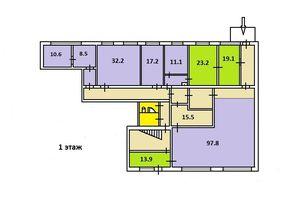 Сдается в аренду помещение (часть здания) 412 кв. м в 2-этажном здании